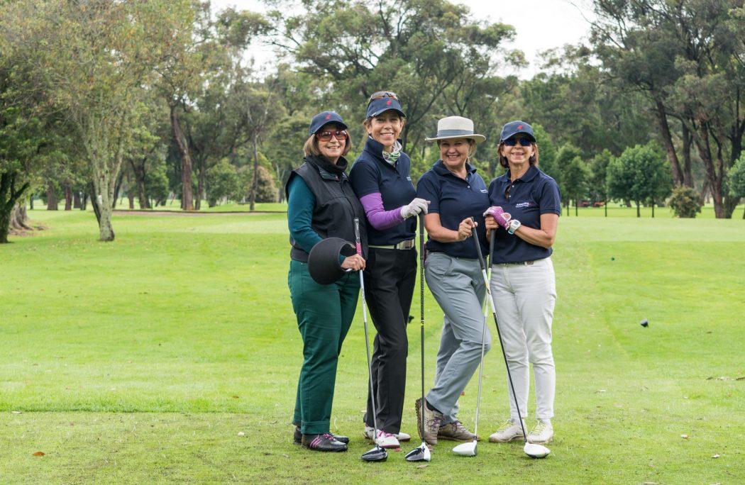 Liliana Wells, Elsa Mejía, Martha Peña y Lexie Crombie