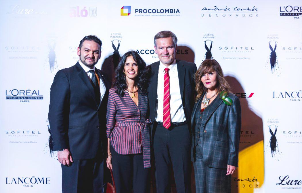David Kianni, Tatiana Mignot (Esposa del Embajador), Gautier Mignot (Embajador de Francia en Colombia), Lina Cantillo