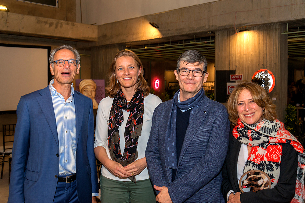 Raymond van Buuren, Caroline Ramaekers, Luis Fernando Castilla y Angela Pelaez
