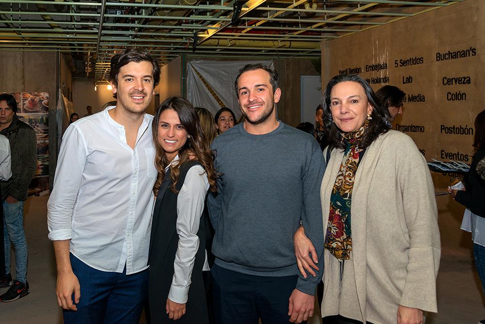 Camilo Cortes, Maria Atuesta, Pablo Barrios y Mariana Pacheco