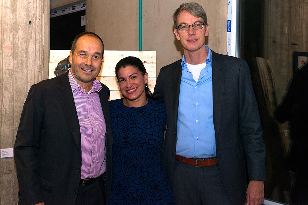 Boris Kruijssen, Daniela Camero Rosso y Jeroen Roodenburg