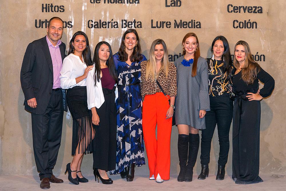 Boris Kruijssen, Laurent Villa, Alejandra Molina, Patricia Valderrama, Ximena Moncaleano, Lorena Suarez, Elizabeth Molina y Alexandra Spicker