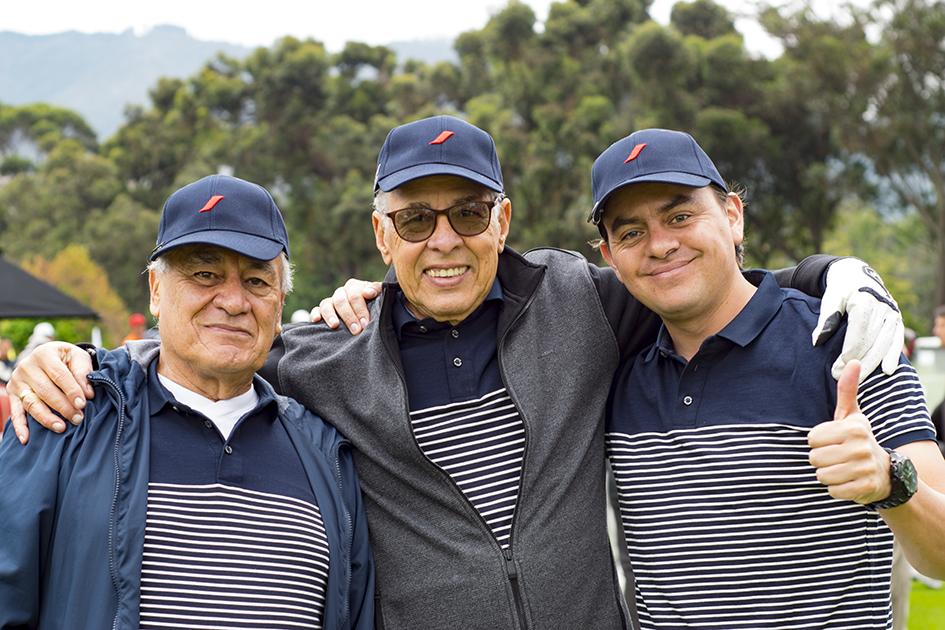 Francisco Manrique, Alfonso Visbal y Edwin Martinez