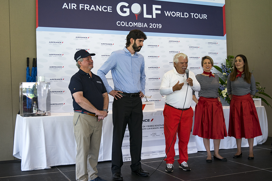 Ganadores del Air France Golf World Tour 2018: Daniel Gómez y Epifanio Rojas