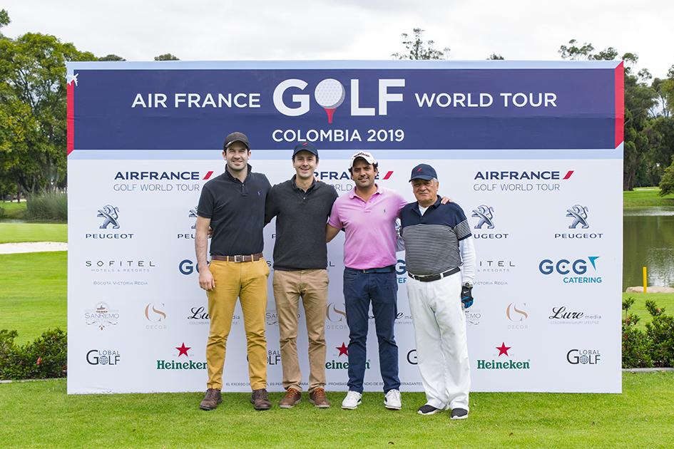 Diego Ruiz, Felipe Escobar, Nicolás Rozo y Francisco Manrique