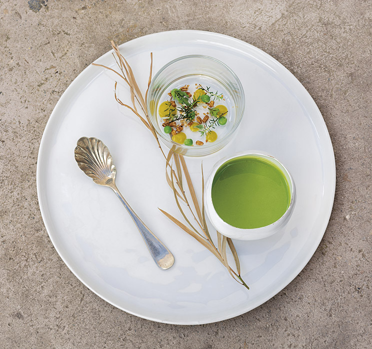 Tour Gastronómico - Crema de petit pois y cereales tostados   $9.000